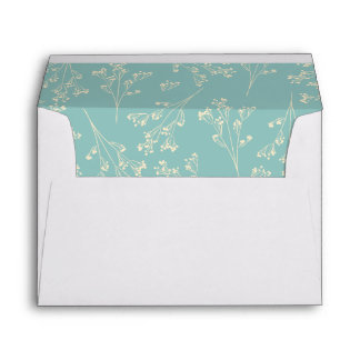 Baby's Breath Silhouette Lining Envelope