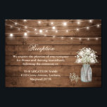 """Baby&#39;s Breath String Light Reception Accommodation Card<br><div class=""""desc"""">================= ABOUT THIS DESIGN ================= Baby&#39;s Breath Mason Jar Lights Wedding Reception Accommodation Card. (1) For further customization, please click the &quot;Customize&quot; button and use our design tool to modify this template. All text style, colors, sizes can be modified to fit your needs. (2) If you need help or matching...</div>"""