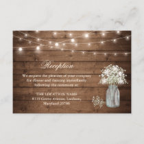 Baby's Breath String Light Reception Accommodation Enclosure Card