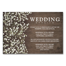Baby's Breath Wedding Reception + Hotel Cards