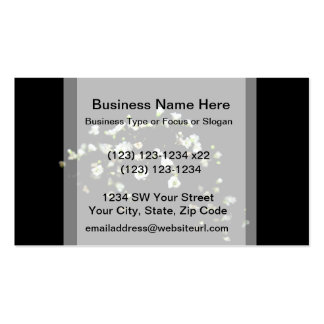 babys breath white flowers against black Double-Sided standard business cards (Pack of 100)