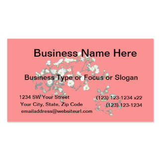 babys breath white flowers against red Double-Sided standard business cards (Pack of 100)