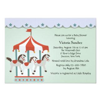 Baby's Carousel Invitation
