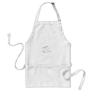 babys coming feet adult apron