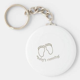 babys coming feet keychain