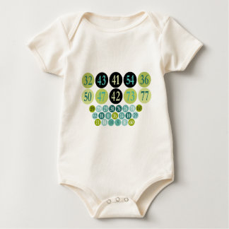 Baby's Creeper Shirts, Lucky Numbers