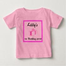 baby's custom Birthday, baby's 1st, 2nd...etc Baby T-Shirt