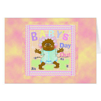 Baby's Day Out African Baby Card