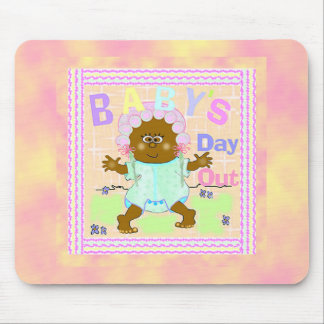 Baby's Day Out African Baby Mouse Pad