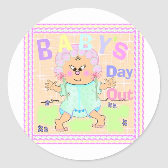 Baby's Day Out Asian Classic Round Sticker