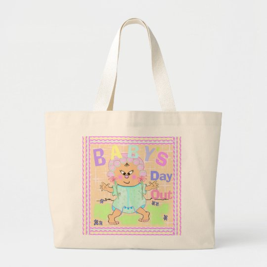 Baby's Day Out Asian Large Tote Bag