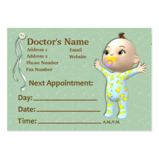 Baby's Doctor Appointment Card Business Card Templates