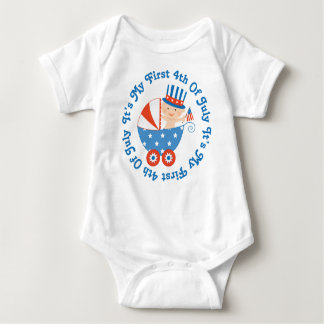 Babys First 4th of July Baby Bodysuit
