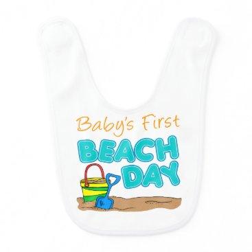 Beach Themed Baby's First Beach Day Bib