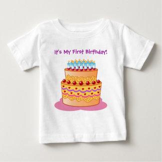 Baby's First Big Birthday Cake Tee Shirt