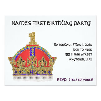"Baby's First Birthday 4.25"" X 5.5"" Invitation Card"