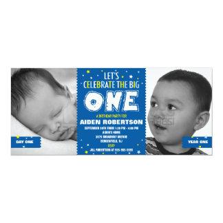 Baby's First Birthday Blue Custom Invite