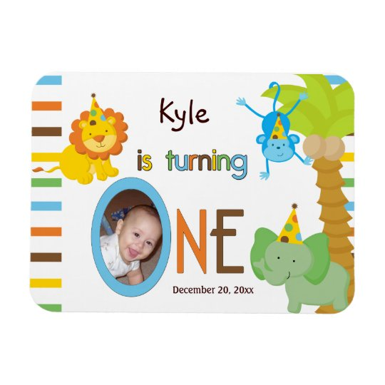 Babys First Birthday Customizable Party Favor Magnet