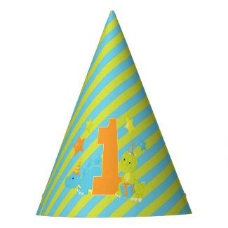Baby's First Birthday | Dinosaur T-Rex Stegosaurus Party Hat