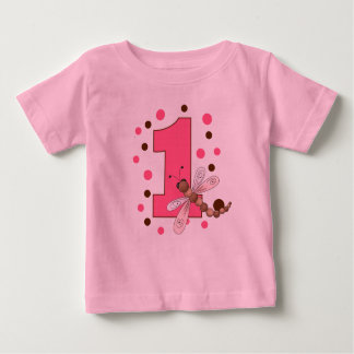 Baby's first birthday dragonfly baby T-Shirt