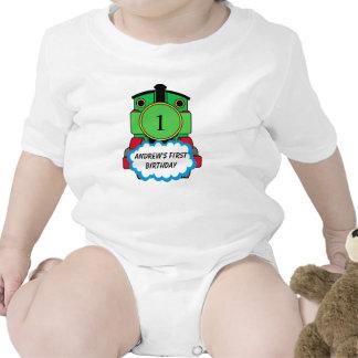 Baby's first Birthday Green Train Shirt