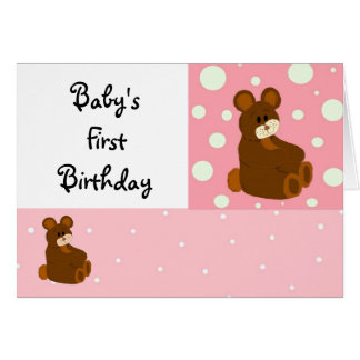 Baby's First Birthday Greeting Card