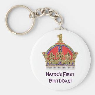 Baby's First Birthday Keychain