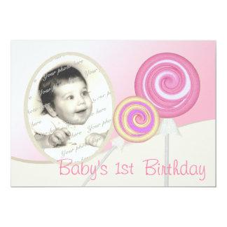 Baby's First Birthday Lollipop Card