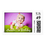 Baby's First Birthday Photo Ready Postage Stamp