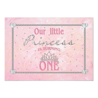BABY'S FIRST BIRTHDAY - PRINCESS INVITATION - PINK