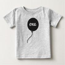 Baby's First Birthday Shirt | Gray