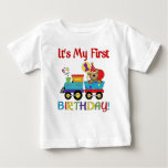 Baby's first birthday train tshirts