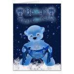 Baby's First Chanukah Card With Cute Little Bear