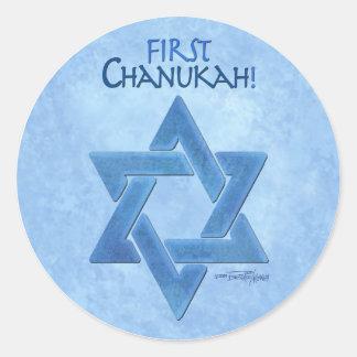 Baby's First Chanukkah Classic Round Sticker