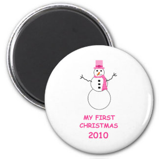 Baby's first Christmas 2010 2 Inch Round Magnet