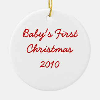 Baby's First Christmas 2010 Ceramic Ornament