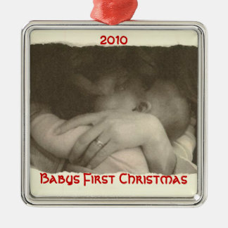 Babys First Christmas, 2010 Metal Ornament