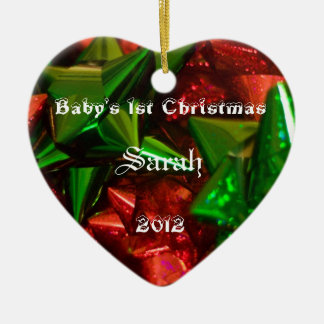 baby's first christmas 2012 ceramic ornament