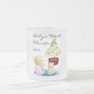 Baby's First Christmas 2012 10 Oz Frosted Glass Coffee Mug