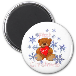 Baby's First Christmas 2 Inch Round Magnet