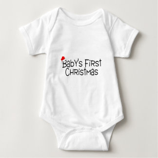 Babys First Christmas Baby Bodysuit