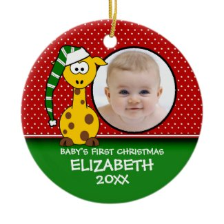 Baby's First Christmas Baby Giraffe Ornament ornament
