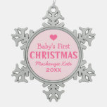 Baby's First Christmas | Baby Girl Ornament