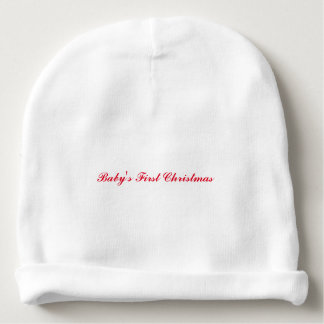 """""""Baby's First Christmas"""" Baby Hat"""