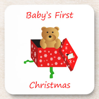 Baby's First Christmas Beverage Coaster