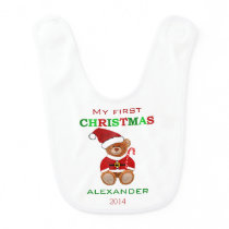 Baby's First Christmas- Bib