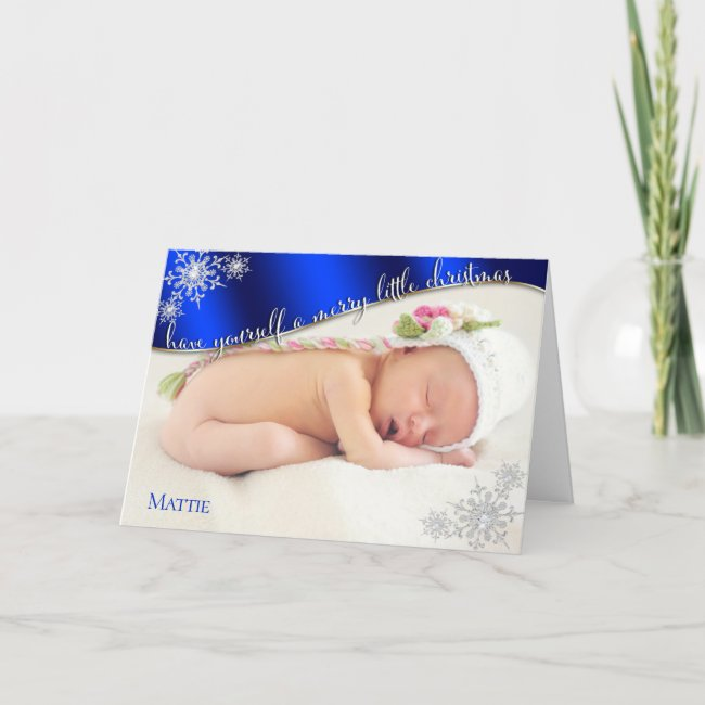 Baby's First Christmas Blue- YOUR BABY'S PHOTO