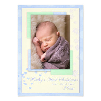 Baby's First Christmas (boy) Christmas Card