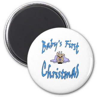 Babys First Christmas boy Refrigerator Magnets
