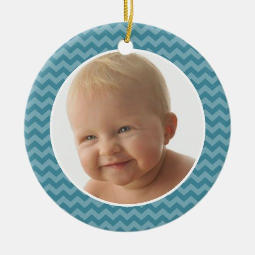Baby's First Christmas Boy PHOTO FRAME Ornament